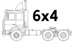 Тягачи 6х4