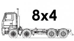 Шасси 8х4