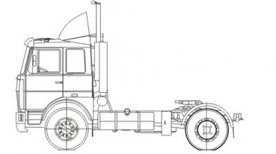 Тягач МАЗ-5440Е8-520-030