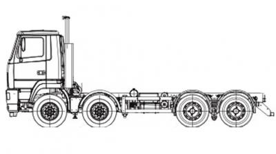 Шасси МАЗ 6516V8-540-000