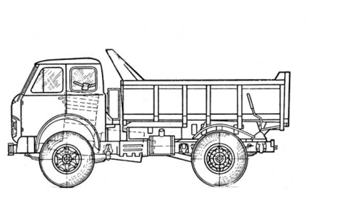 Самосвал МАЗ 5550С5-580-021