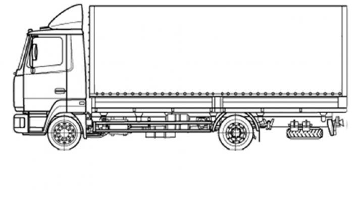 Бортовая машина МАЗ 4371V2-522-000
