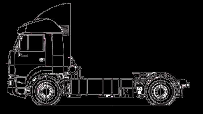 Шасси МАЗ 4381N2-540-001