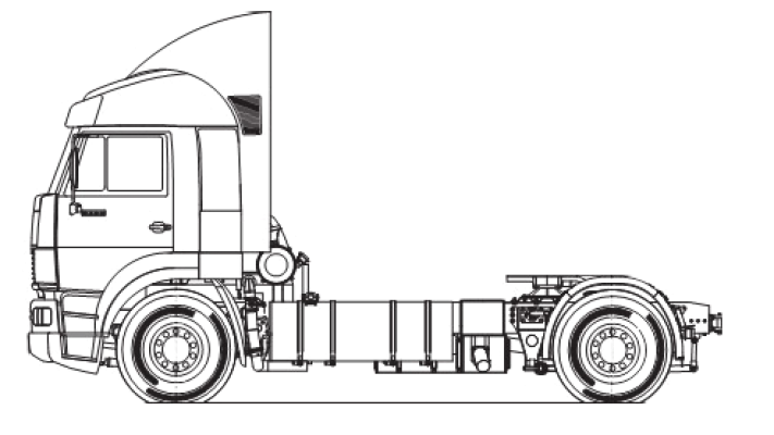 Шасси МАЗ 5340V4-545-030