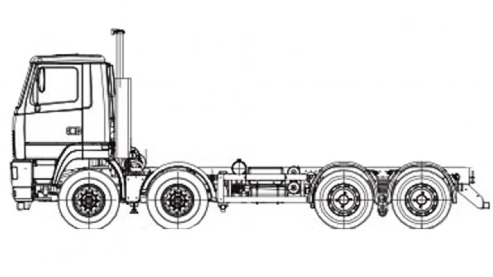 Шасси МАЗ 6516V8-542-000